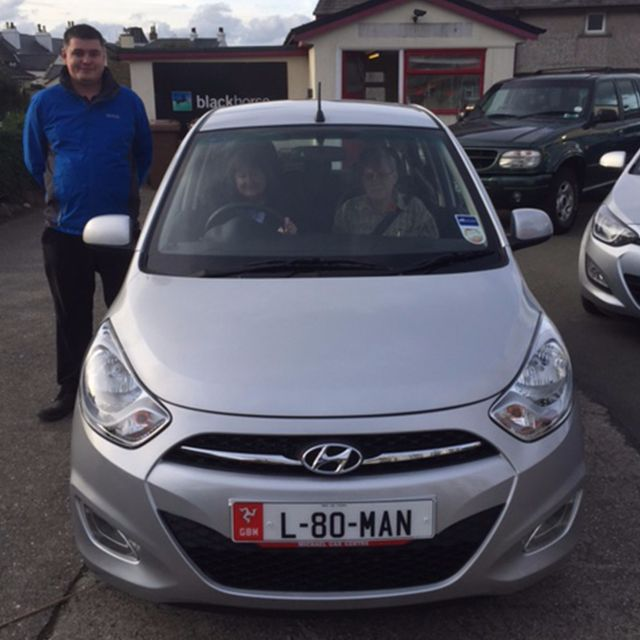 Mr and Mrs Booth collecting their new Hyundai i10!