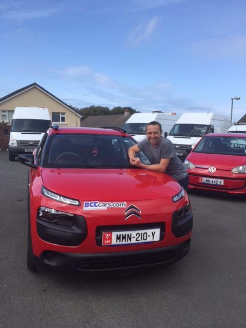 Steve Plate collecting his Citroen C4 Cactus!