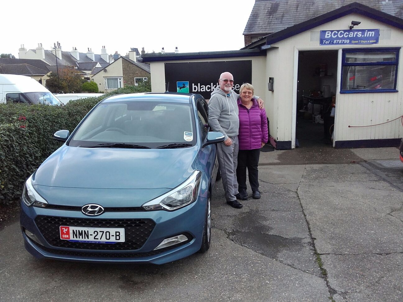 Mr Pemberton picking up his new i20 from John
